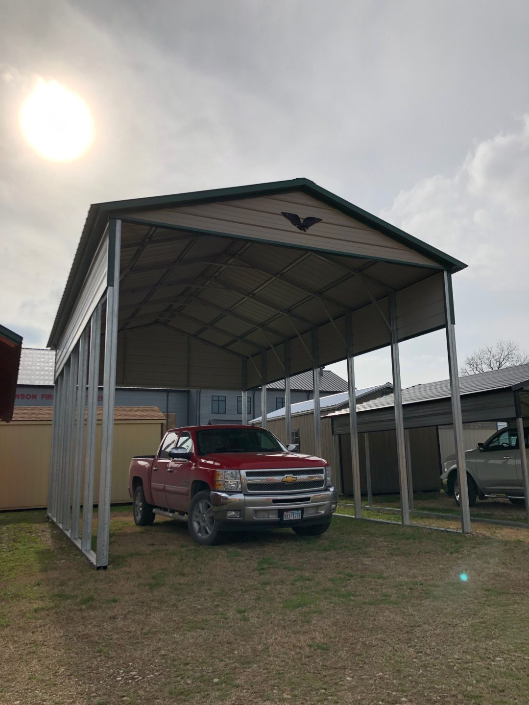 18 X 30 X 14 Vertical Roof RV Cover