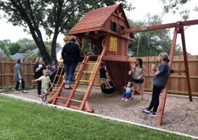 Farm-and-Yard-Central-Texas-Parrot Island Playcenter-treehouse-Wood-Roof-8