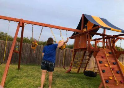 Farm-and-yard-Jaguar-Playground-tarp-scoop-slide-Customer-2