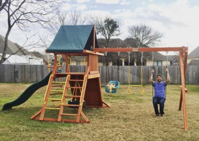 Farm-and-yard-tx-Toucan Playcenter w: BYB Tarp and Yellow Wave Slide-Customer-4