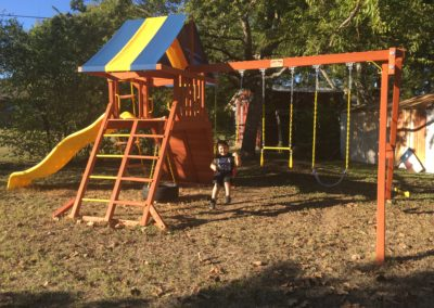 Farm-and-yard-tx-Toucan Playcenter w: BYB Tarp and Yellow Wave Slide-Customer-5