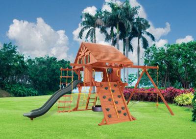 5.8 Jaguar Playcenter Configuration 2 w/ Treehouse Panels & Wacky Wave Slide