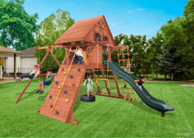 Parrot Island Playcenter XL with Wood Roof and Treehouse Panels