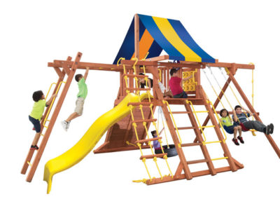 Parrot Island Playcenter with 4×4 Monkey Bars
