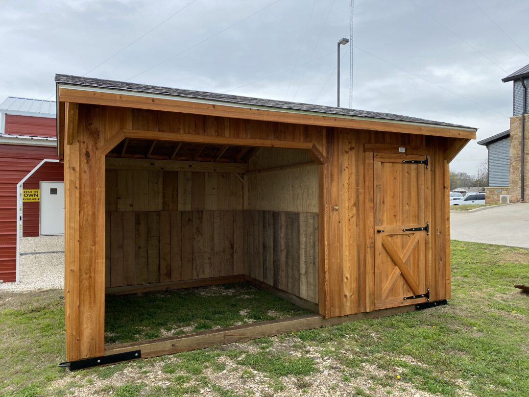 10 X 16 Run- In Horse Barn With Tack Room