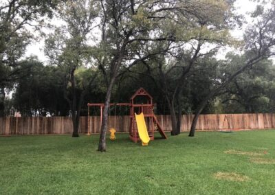 farm-and-yard-central-texas-bengal-fort-config-2-wood-roof-playset-customer-3
