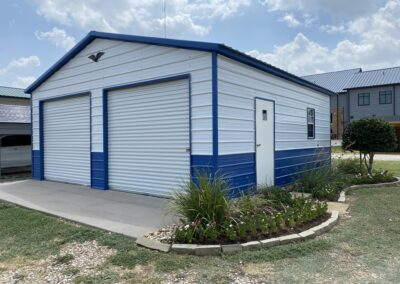 24 X 25 Vertical Roof Garage