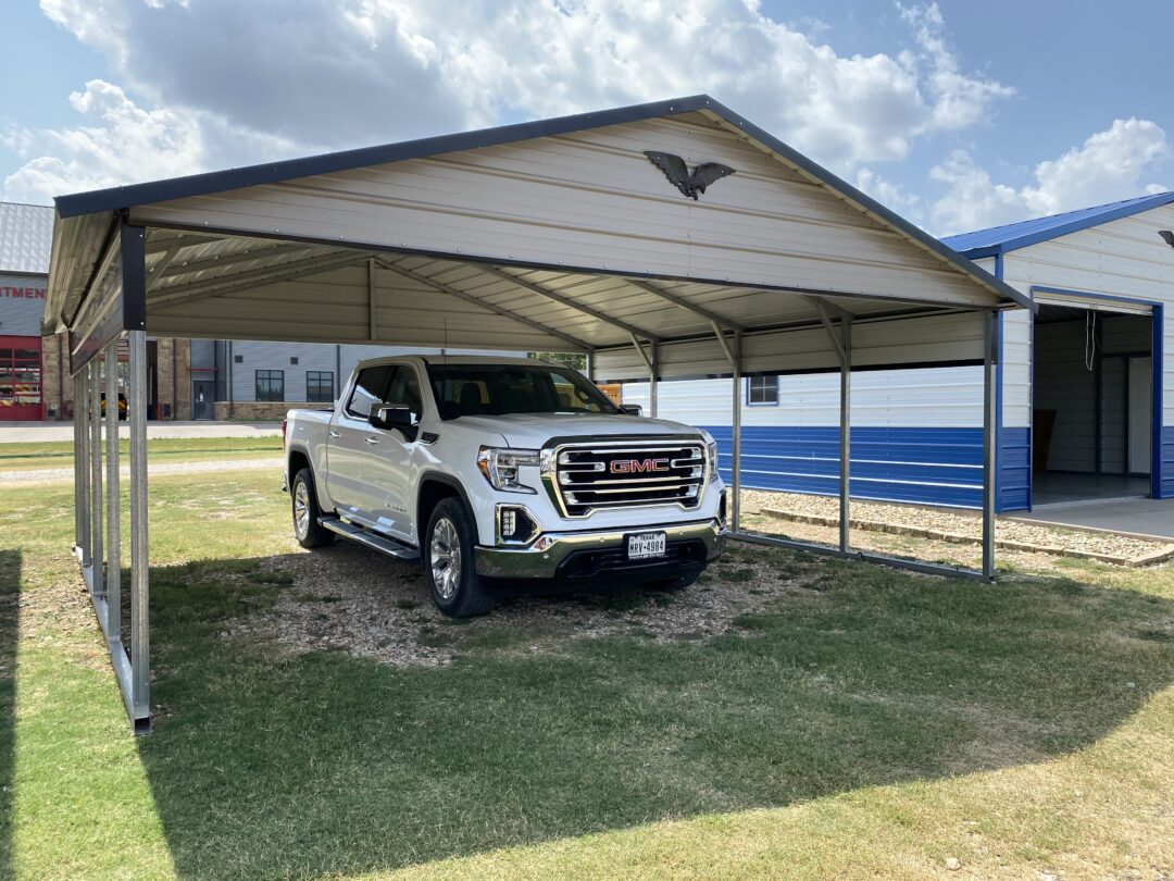 20 X 20 Boxed Eave Style Carport