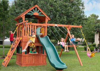 Parrot Island Fort XL with Playhouse Panels