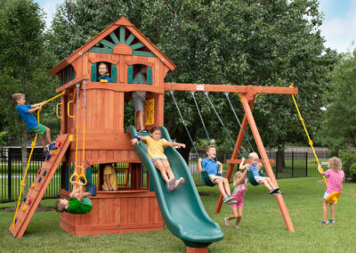 Parrot Island Fort XL With Treehouse Panels and Playhouse Panels